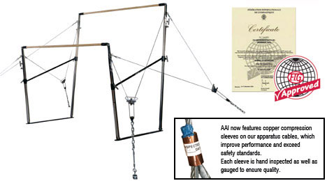 Aai Uneven Bars With Graphite E Rails 407109 Nra Gym Supply
